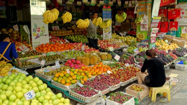 Buying Fruit from a Vendor