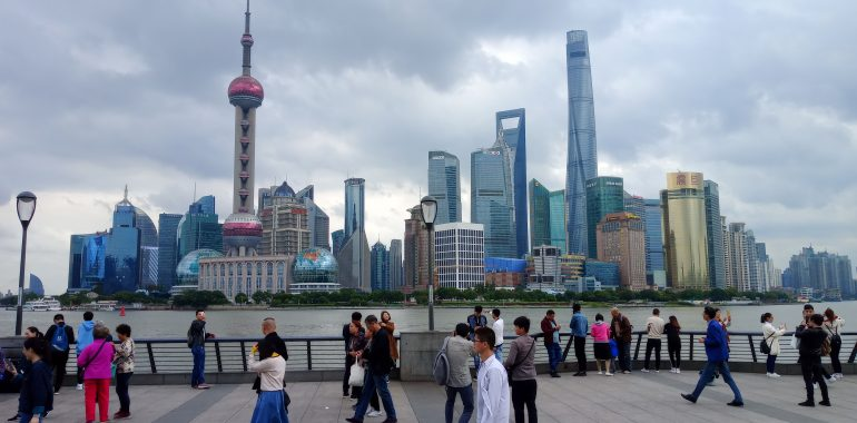 View of Lujiazui from the Bund